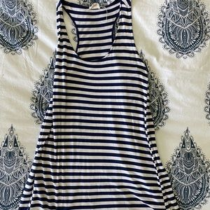 Striped racer back tank dress